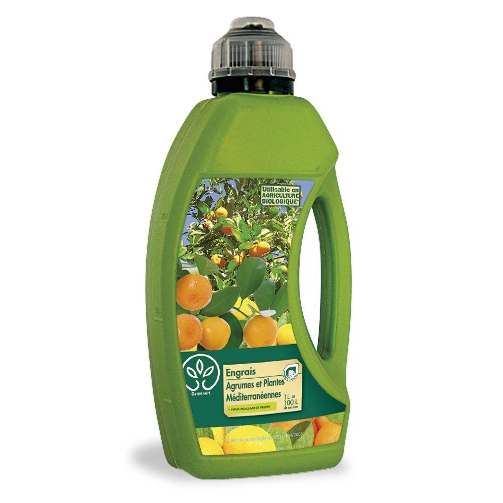 Engrais agrumes et plantes m diterran ennes 1l gamm vert for Gamm vert muzillac