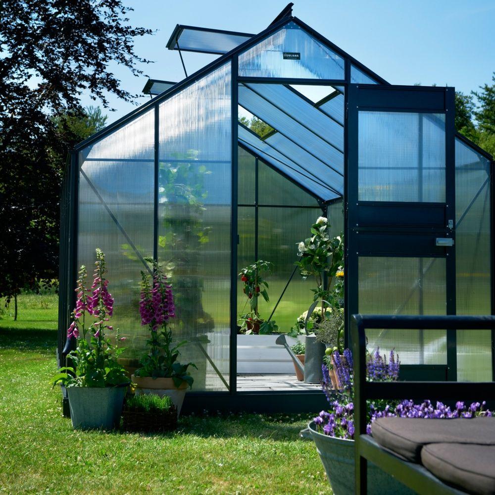 serre de jardin compact plus polycarbonate 9 9 m juliana plantes et jardins. Black Bedroom Furniture Sets. Home Design Ideas