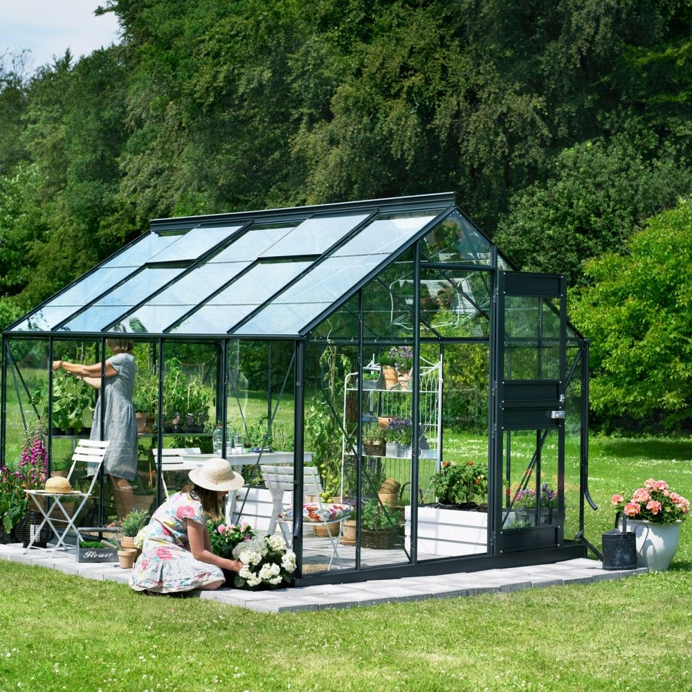 serre de jardin compact plus polycarbonate 9 9 m juliana plantes et jardins. Black Bedroom Furniture Sets. Home Design Ideas