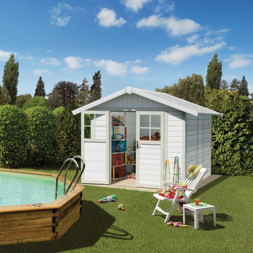 abri de jardin r sine grosfillex m ep 26 mm deco gris vert plantes et jardins. Black Bedroom Furniture Sets. Home Design Ideas