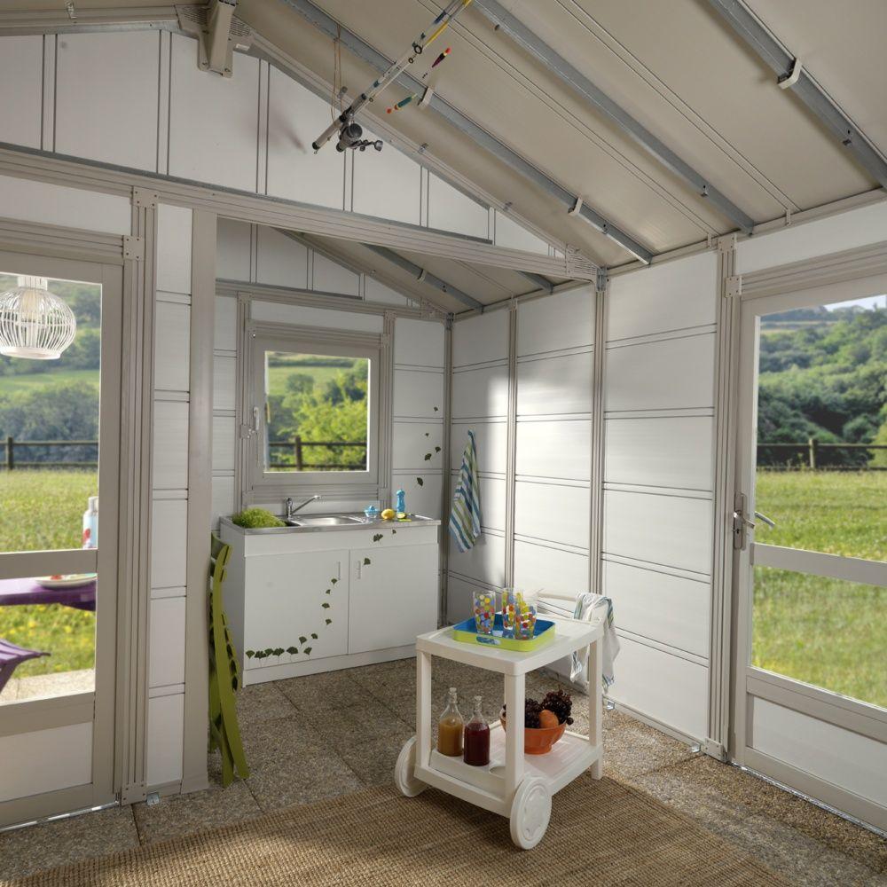 grand abri de jardin r sine grosfillex m ep 26 mm. Black Bedroom Furniture Sets. Home Design Ideas