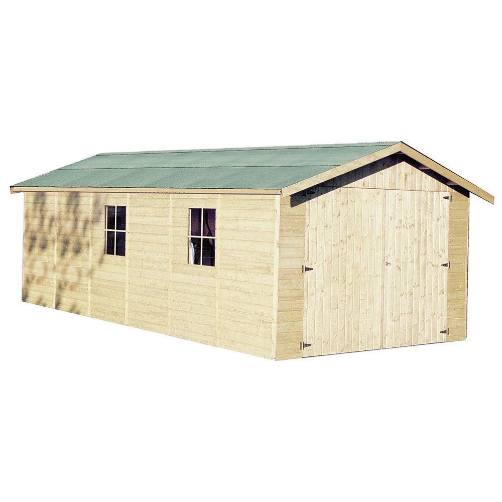 Garage bois gapale 22 66 m ep 15 mm plantes et jardins for Garage bois 60m2