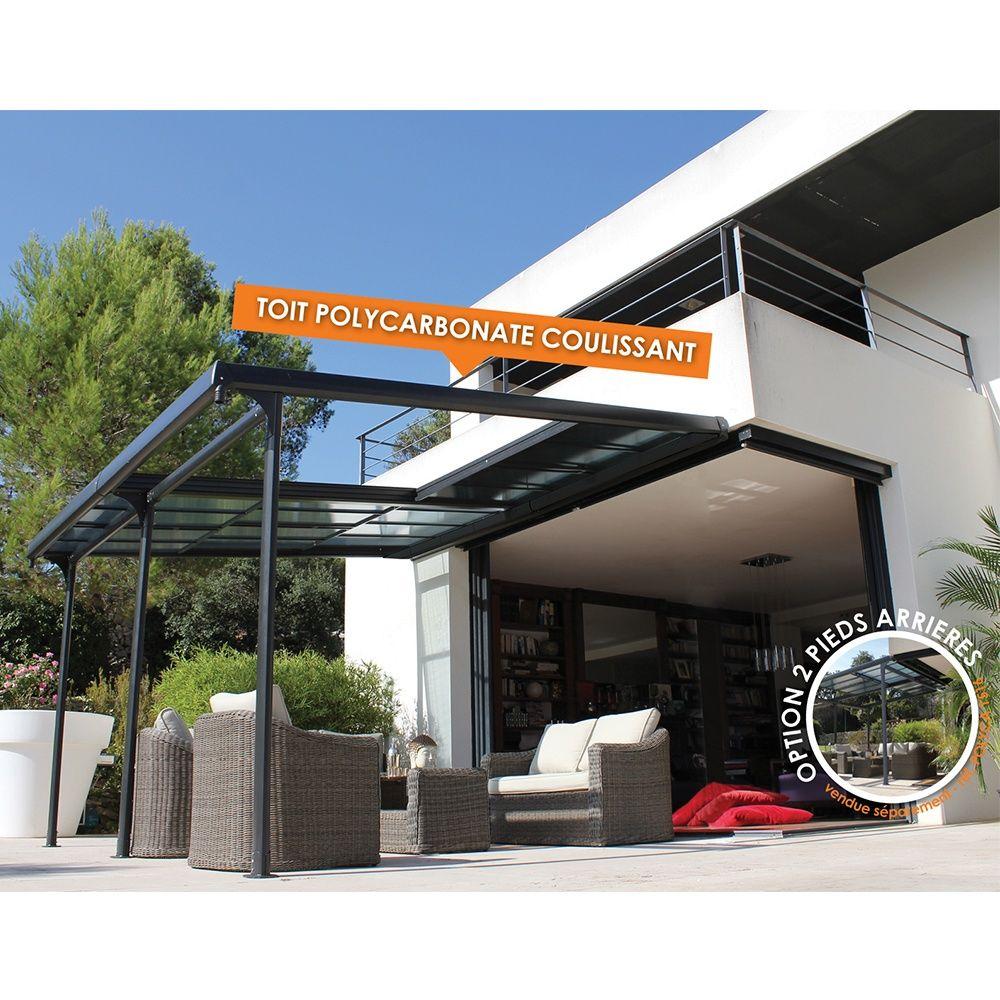 tonnelle adoss e toit polycarbonate azura 4x3 5m. Black Bedroom Furniture Sets. Home Design Ideas