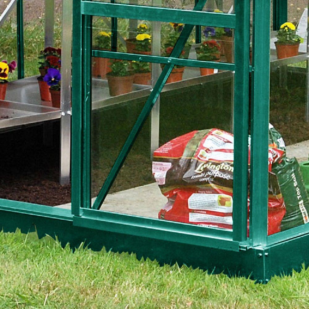 Serre de jardin Princess verre trempé 3,69 m² + embase ...