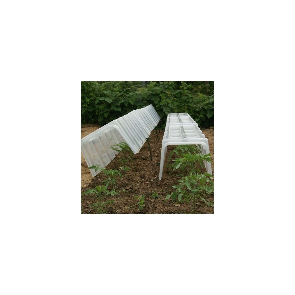 2 embouts pour tunnel de for age pouss 39 vert plantes et. Black Bedroom Furniture Sets. Home Design Ideas