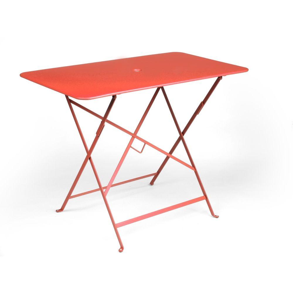Table pliante fermob bistro acier l97 l57 cm capucine - Table fermob bistro ...
