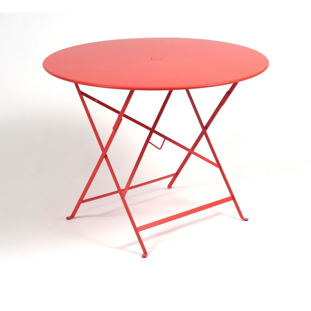 Table pliante fermob bistro acier 96 cm coquelicot - Table fermob bistro ...
