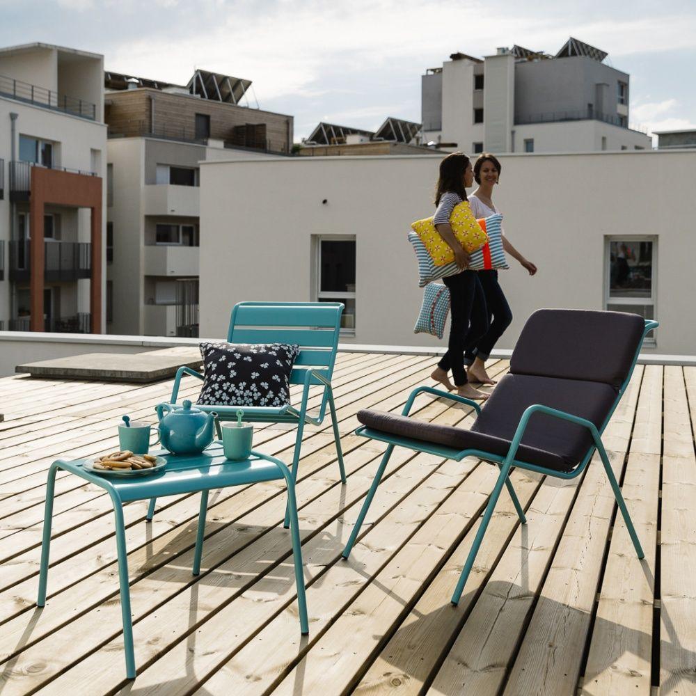 coussin fauteuil bas fermob monceau gris orage plantes. Black Bedroom Furniture Sets. Home Design Ideas