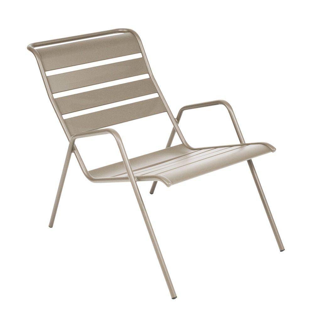 fauteuil bas fermob monceau acier muscade plantes et jardins. Black Bedroom Furniture Sets. Home Design Ideas
