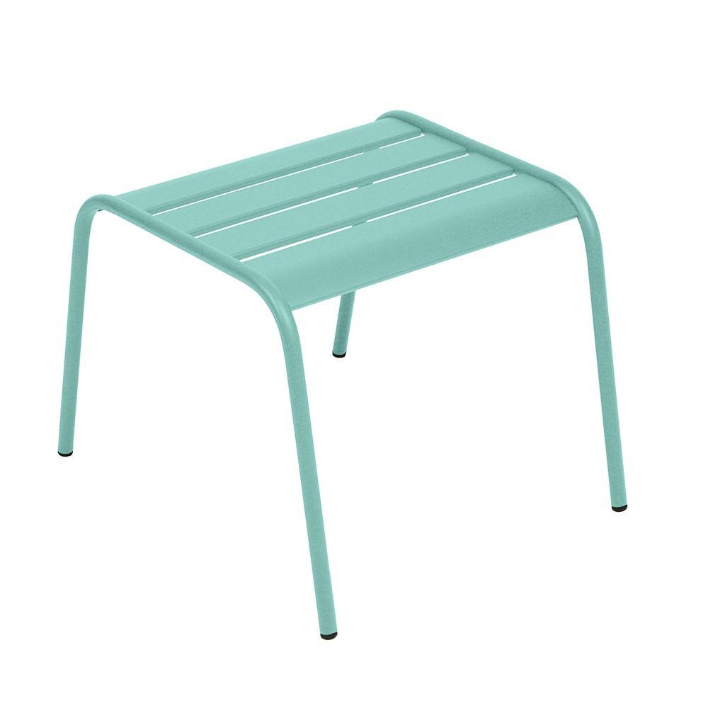 table basse repose pieds fermob monceau acier bleu lagune plantes et jardins. Black Bedroom Furniture Sets. Home Design Ideas