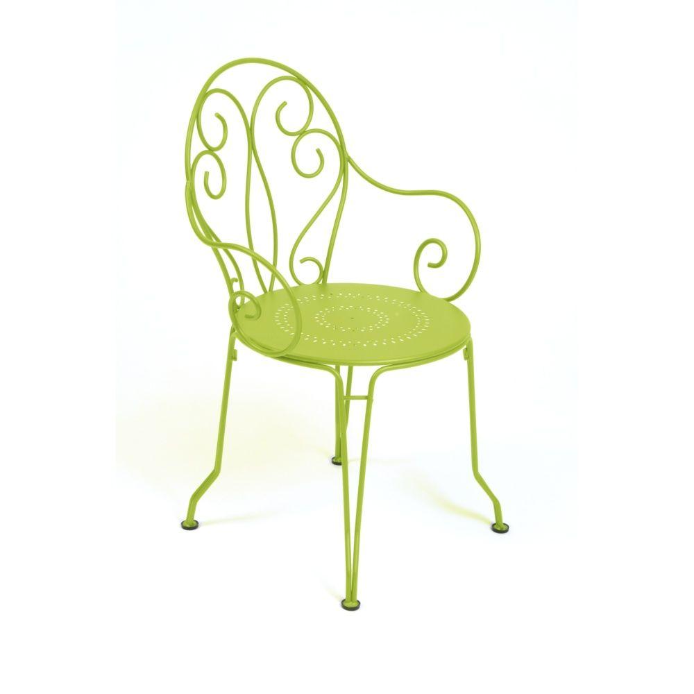 fauteuil empilable fermob montmartre acier verveine. Black Bedroom Furniture Sets. Home Design Ideas
