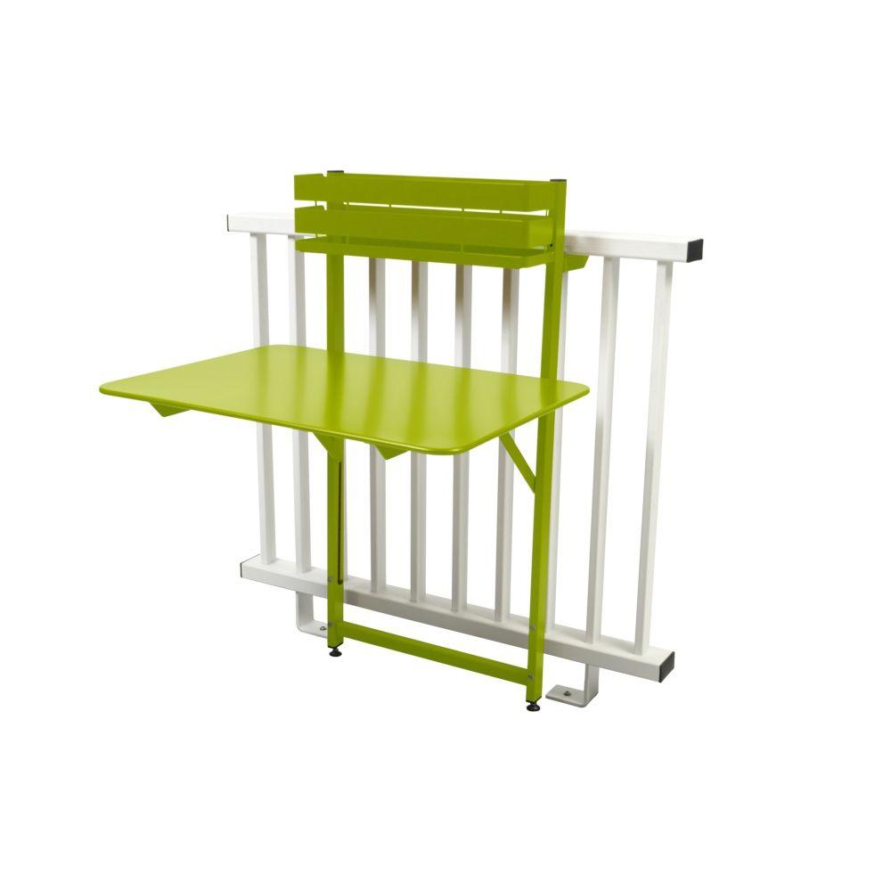 table de balcon pliante fermob bistro acier l77 cm verveine plantes et jardins. Black Bedroom Furniture Sets. Home Design Ideas