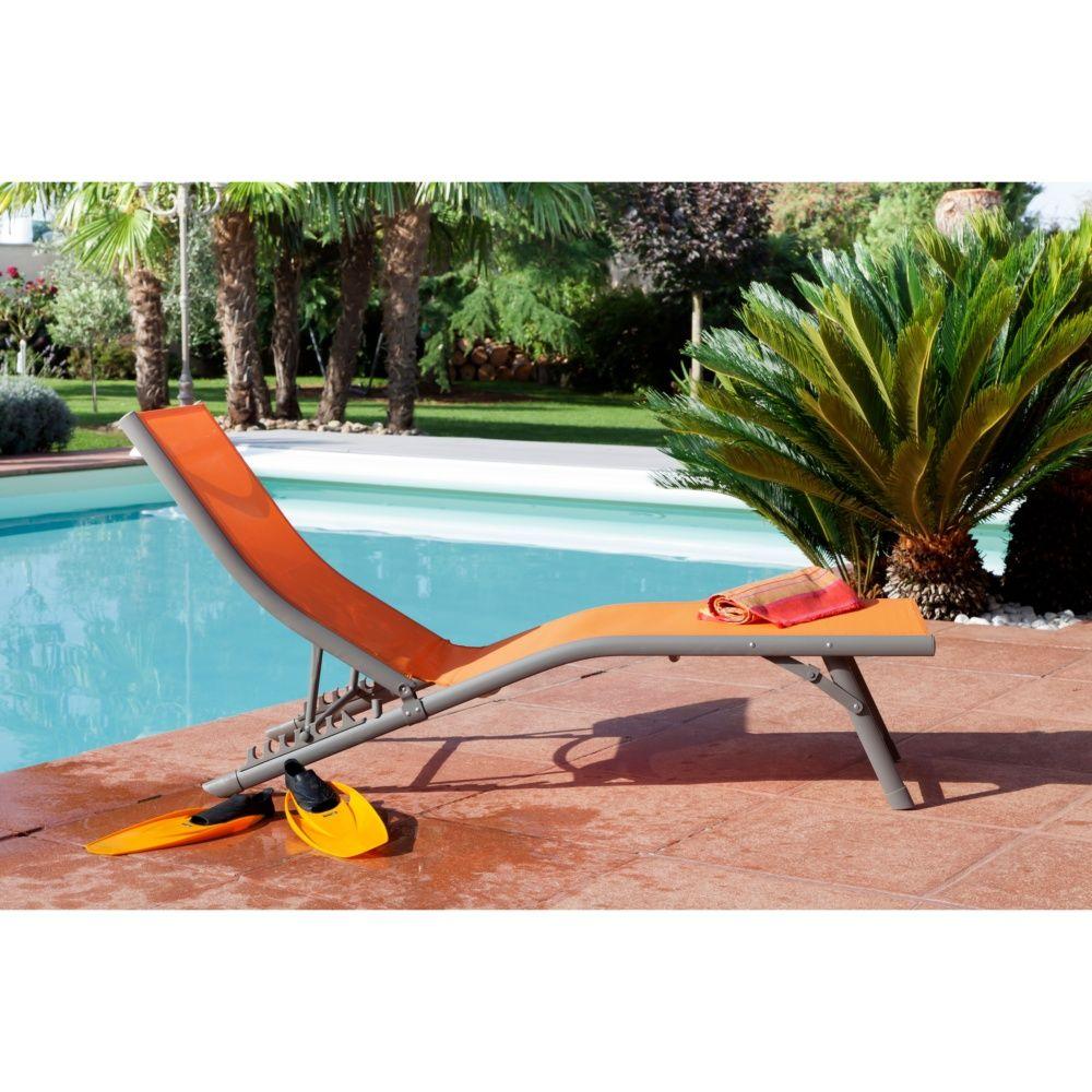 bain de soleil fuji relax aluminium textil ne orange plantes et jardins. Black Bedroom Furniture Sets. Home Design Ideas