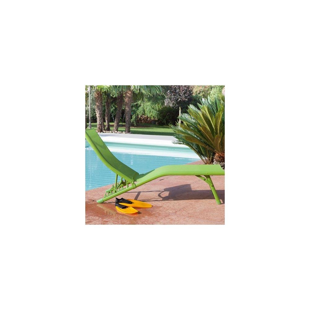 bain de soleil fuji relax aluminium textil ne vert plantes et jardins. Black Bedroom Furniture Sets. Home Design Ideas