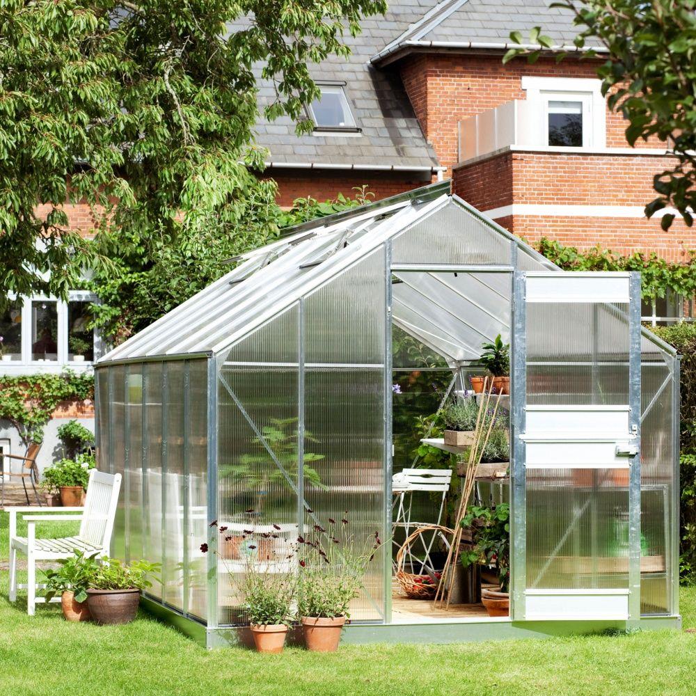 Serre de jardin compact plus verre horticole 12 1 m - Serre jardin polycarbonate caen ...