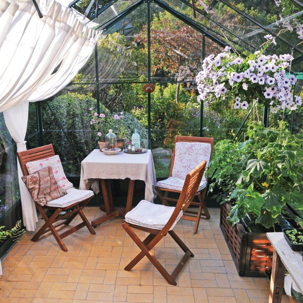 Serre de jardin compact plus verre horticole 12 1 m for Plantes et jardins serres