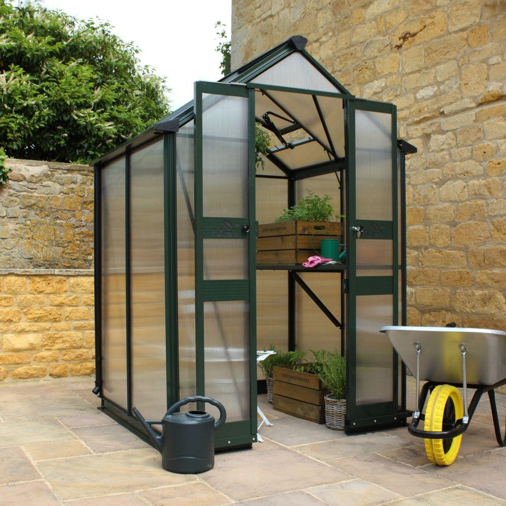 Serre de jardin birdlip polycarbonate 3 8 m kit for Jardin accessoires decoratifs