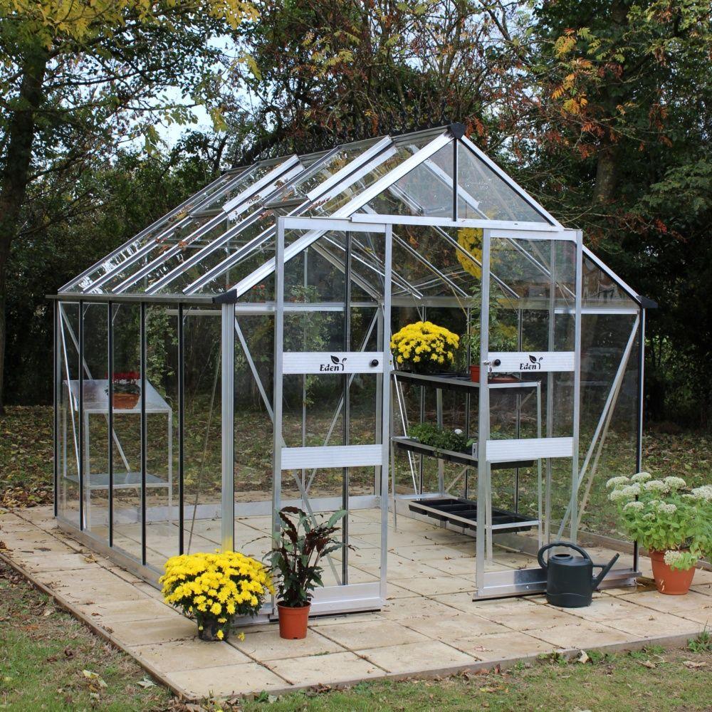 serre de jardin blockley verre tremp 9 7 m kit accessoires eden plantes et jardins. Black Bedroom Furniture Sets. Home Design Ideas