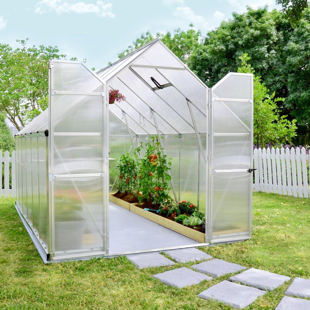 Serre de jardin essence polycarbonate embase - Serre de jardin polycarbonate ...