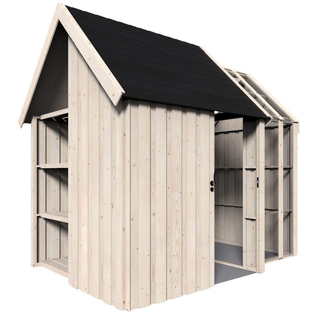 Abri bois avec palette - Abri de jardin bois monsieur bricolage ...