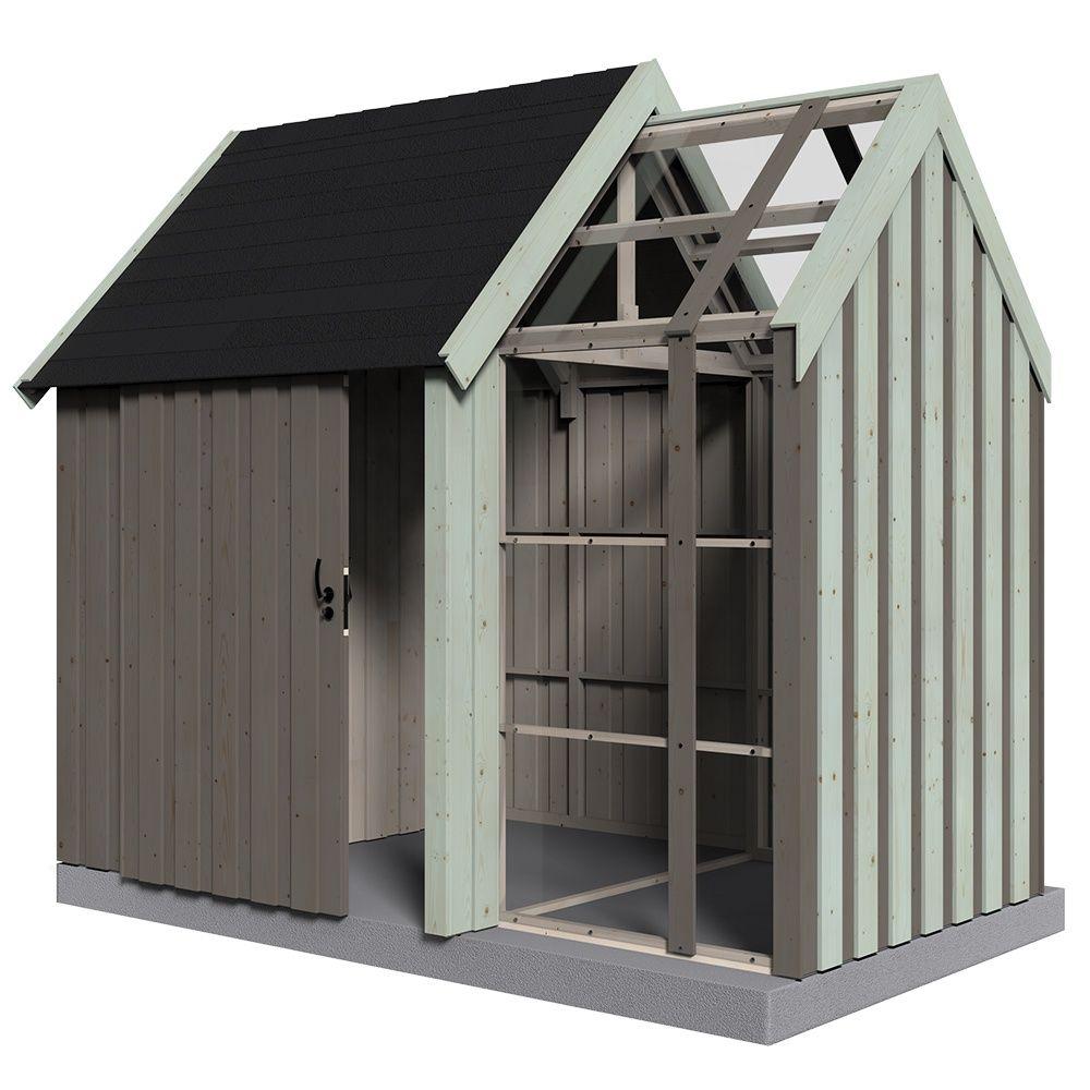 abri de jardin bois vertigo avec serre 7 39 m mm plantes et jardins. Black Bedroom Furniture Sets. Home Design Ideas