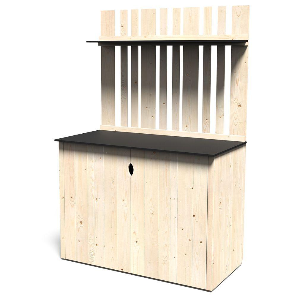armoire de jardin bois vertigo l122 h180 cm plantes et. Black Bedroom Furniture Sets. Home Design Ideas