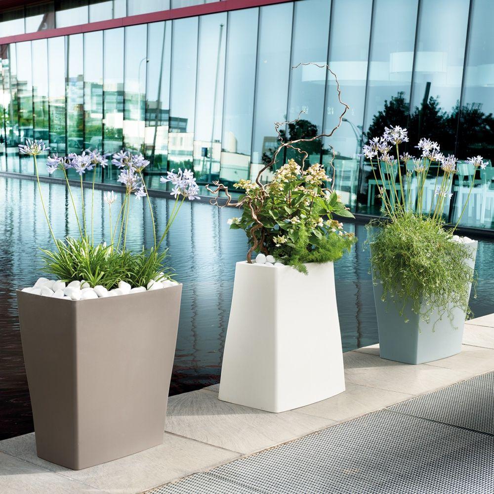 bac fleurs reverso r sine l59 h65 cm taupe plantes et jardins. Black Bedroom Furniture Sets. Home Design Ideas