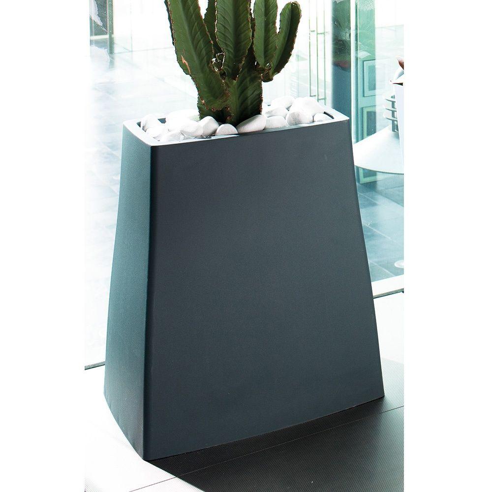 bac fleurs reverso r sine l59 h65 cm ardoise plantes et jardins. Black Bedroom Furniture Sets. Home Design Ideas