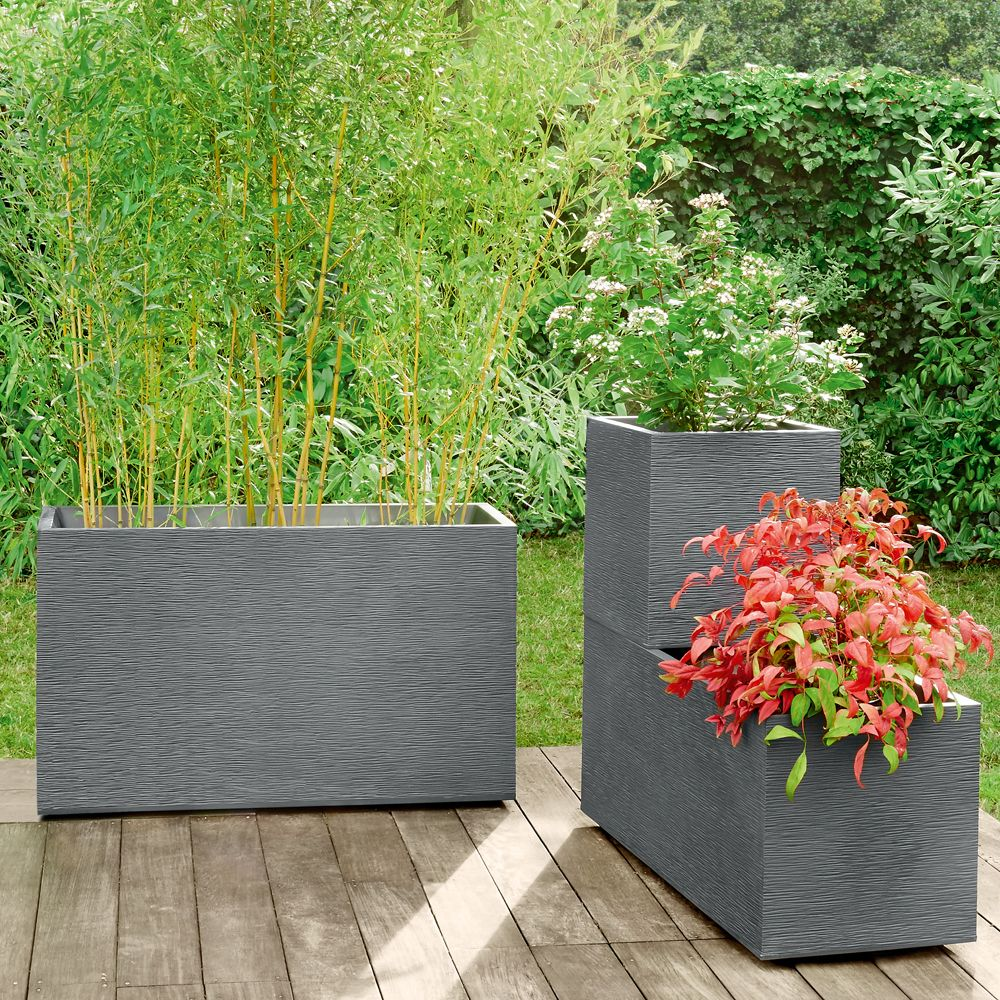 muret graphit r sine l99 5 h60 cm anthracite plantes et. Black Bedroom Furniture Sets. Home Design Ideas