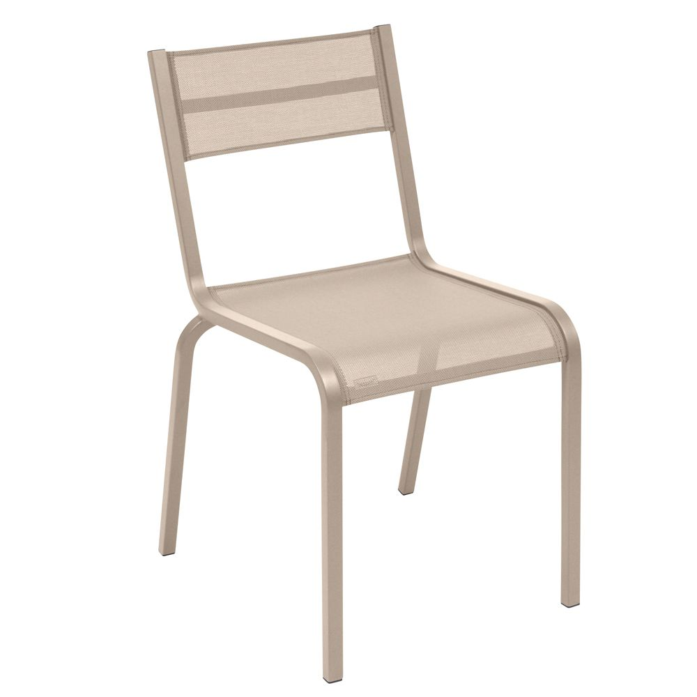 Chaise fermob ol ron aluminium textil ne muscade plantes for Chaise aluminium textilene