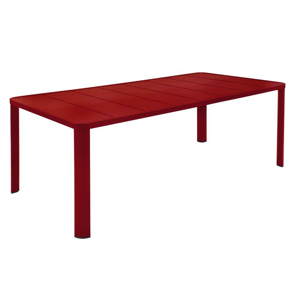 Table de jardin aluminium fermob des id es for Table de jardin aluminium