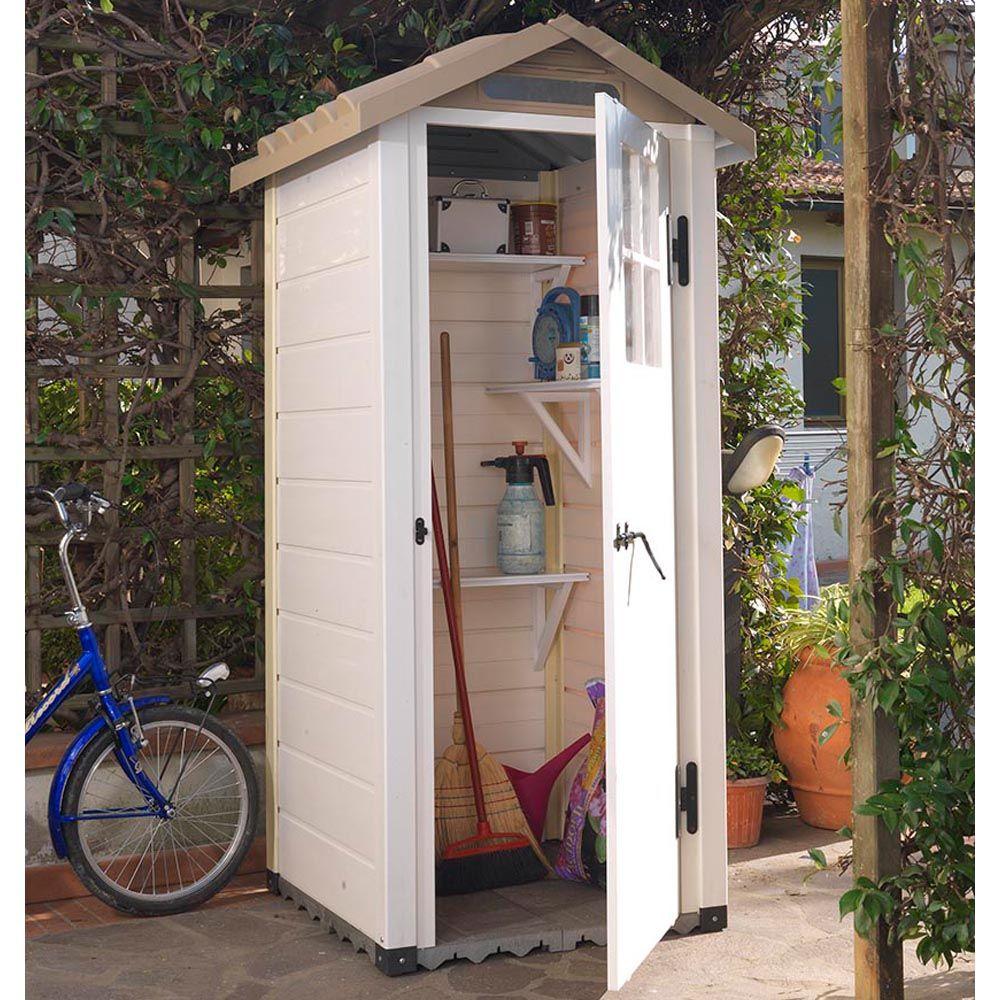 Petit abri de jardin résine PVC 0,67 m² Ep. 22 mm Evo 80 ...