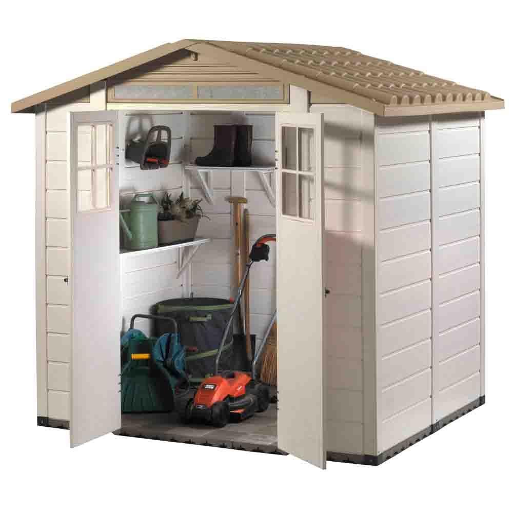 petit abri de jardin r sine pvc 3 29 m ep 22 mm evo plantes et jardins. Black Bedroom Furniture Sets. Home Design Ideas
