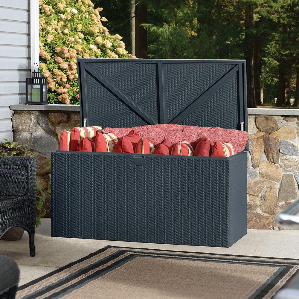 Coffre de jardin métal Rambo 510L gris - Plantes et Jardins