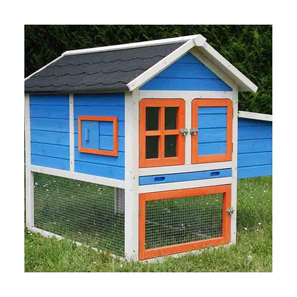 poulailler color 1 2 poules plantes et jardins. Black Bedroom Furniture Sets. Home Design Ideas