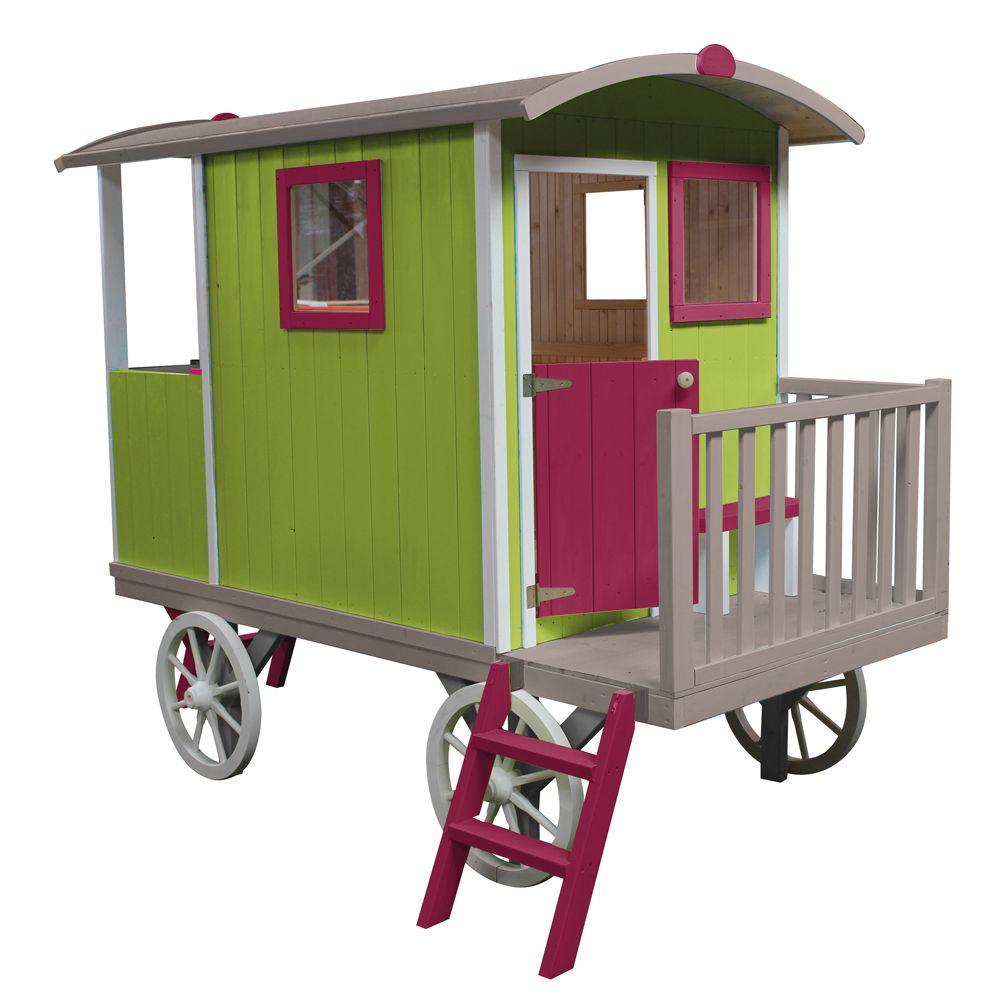 roulotte en bois enfant. Black Bedroom Furniture Sets. Home Design Ideas