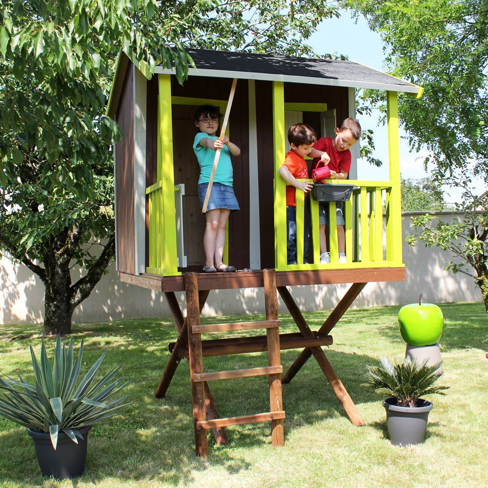 maisonnette enfant bois cabane dans les arbres plantes. Black Bedroom Furniture Sets. Home Design Ideas