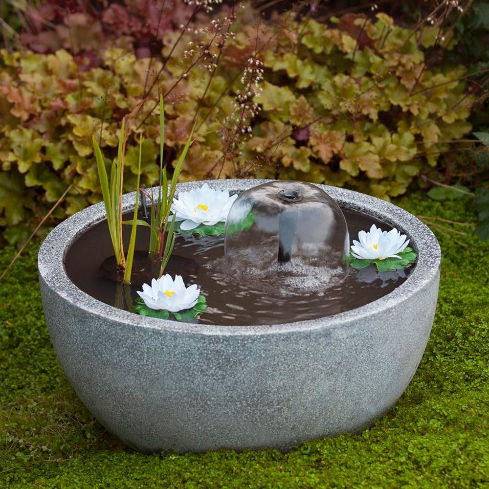 Mini bassin de terrasse gris 55 h30 cm n nuphars for Mini bassin de jardin