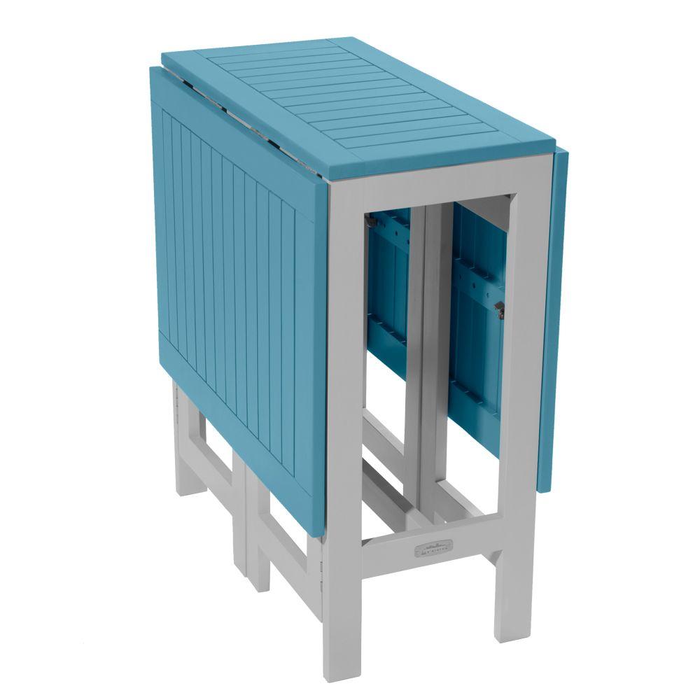 table console pliante city green burano bois l37 135 l65 cm bleu plantes et jardins. Black Bedroom Furniture Sets. Home Design Ideas