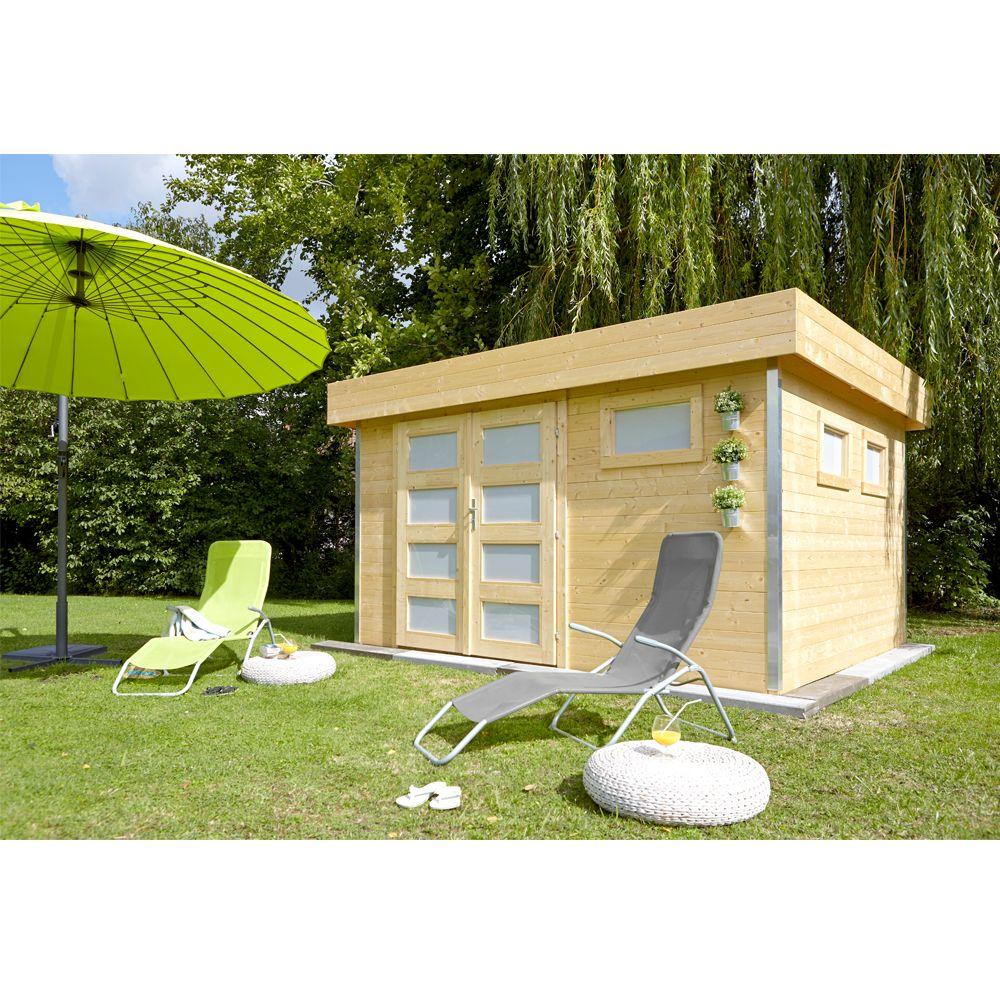 abri de jardin bois 12 8 m ep 28 mm toit plat comfy plantes et jardins. Black Bedroom Furniture Sets. Home Design Ideas