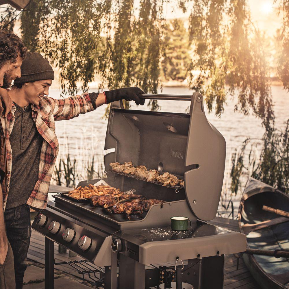 Barbecue gaz Weber Genesis II E-410 noir - Plantes et Jardins
