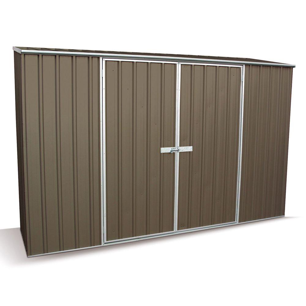 armoire de jardin m tal clay 2 34 m gris plantes et jardins. Black Bedroom Furniture Sets. Home Design Ideas