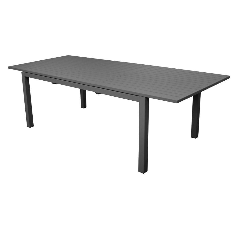 table de jardin trieste aluminium l200 280 l103 cm gris plantes et jardins. Black Bedroom Furniture Sets. Home Design Ideas