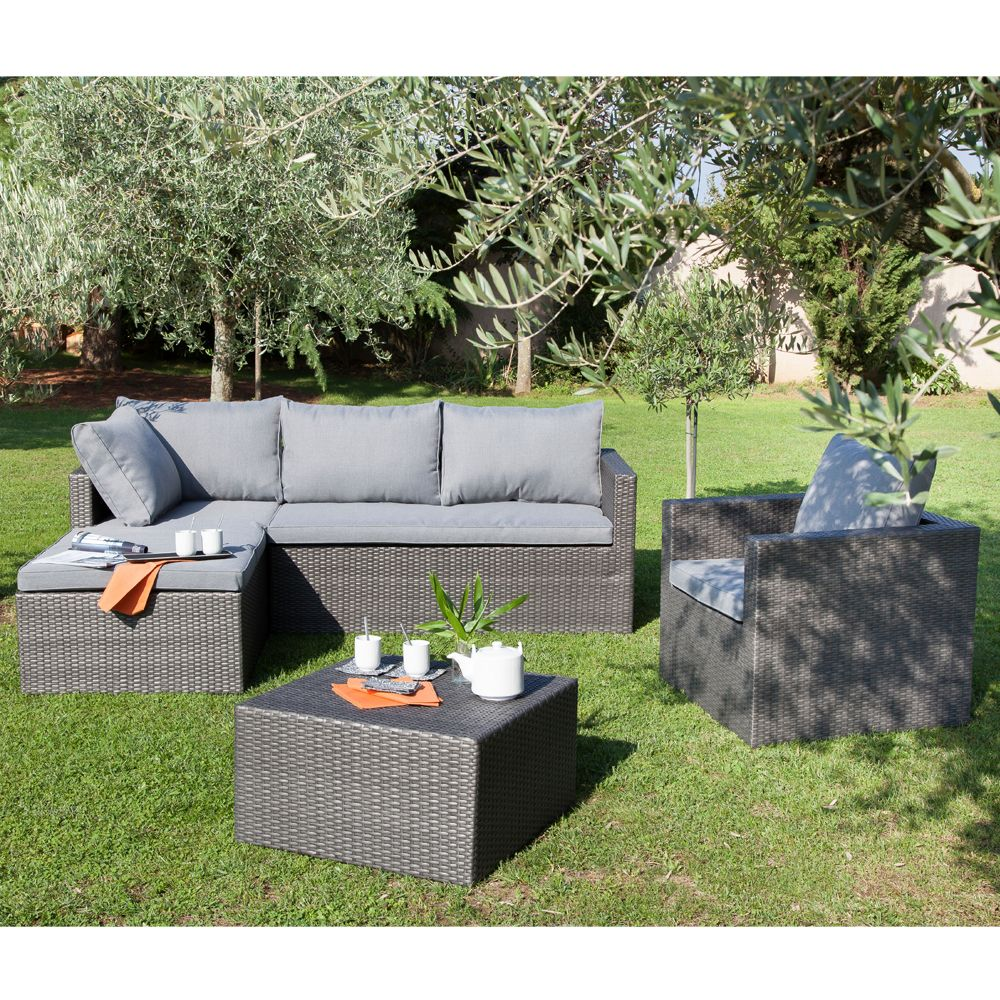 salon de jardin bas mod na fauteuil canap m ridienne. Black Bedroom Furniture Sets. Home Design Ideas