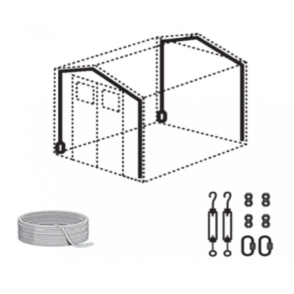 kit d 39 ancrage pour abri de jardin r sine grosfillex. Black Bedroom Furniture Sets. Home Design Ideas