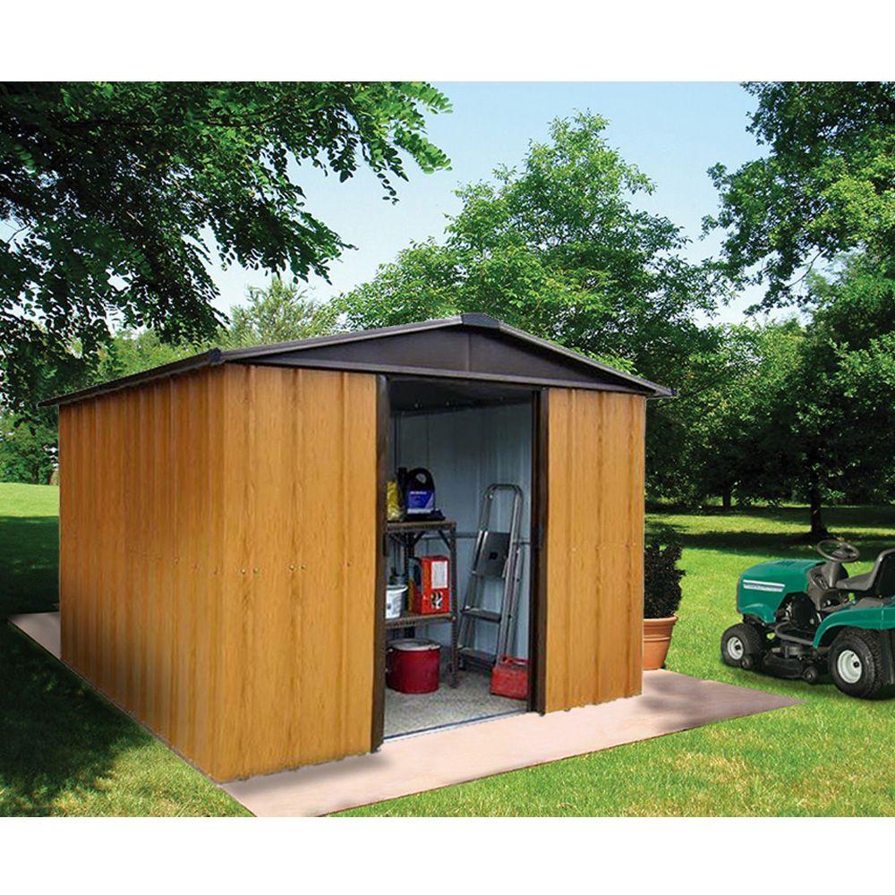 petit abri de jardin m tal aspect bois 2 77 m ep 0 30 mm yardmaster plantes et jardins. Black Bedroom Furniture Sets. Home Design Ideas