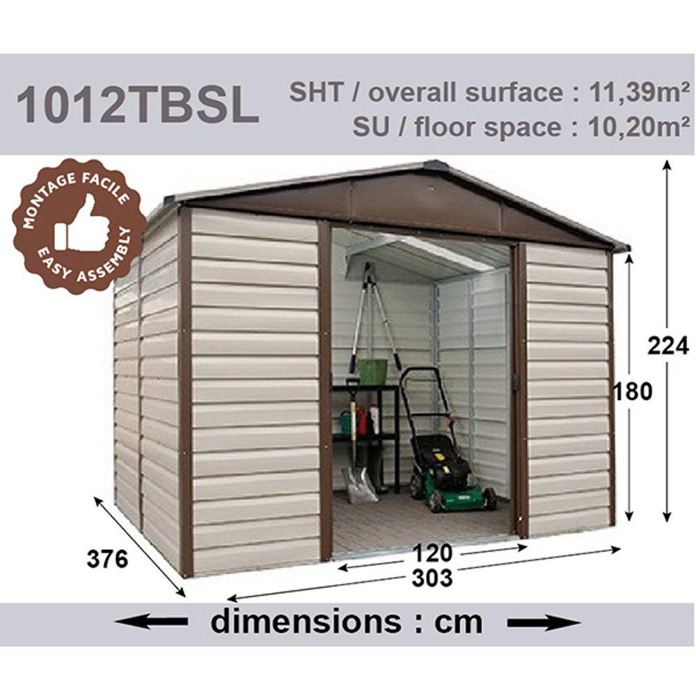 Abri de jardin m tal 11 39 m ep 0 30 mm yardmaster plantes et jardins - Abri de jardin yardmaster m strasbourg ...