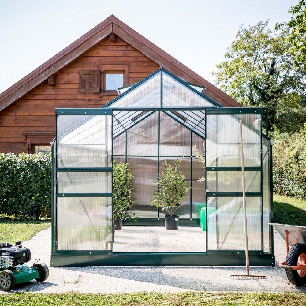 serre polycarbonate m habrita plantes et jardins. Black Bedroom Furniture Sets. Home Design Ideas