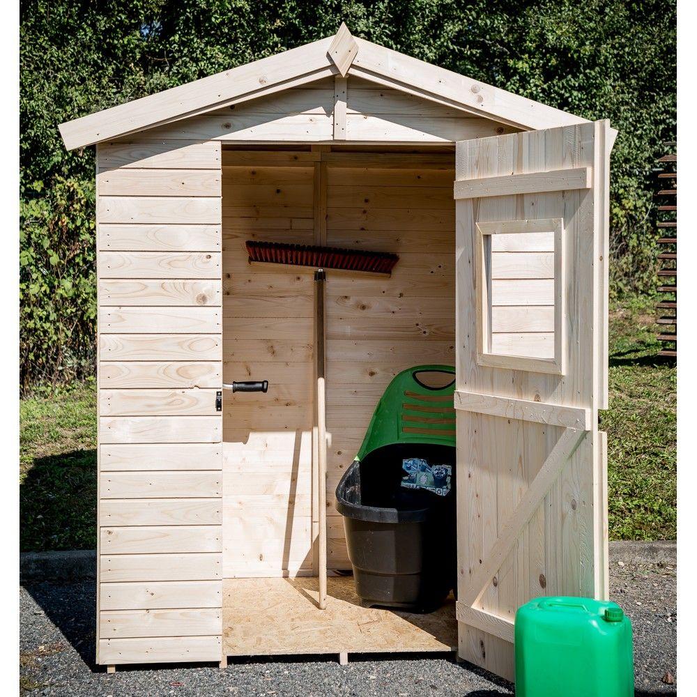 Petit abri de jardin bois 2 61 m ep 16 mm habrita for Petit abri de jardin bois