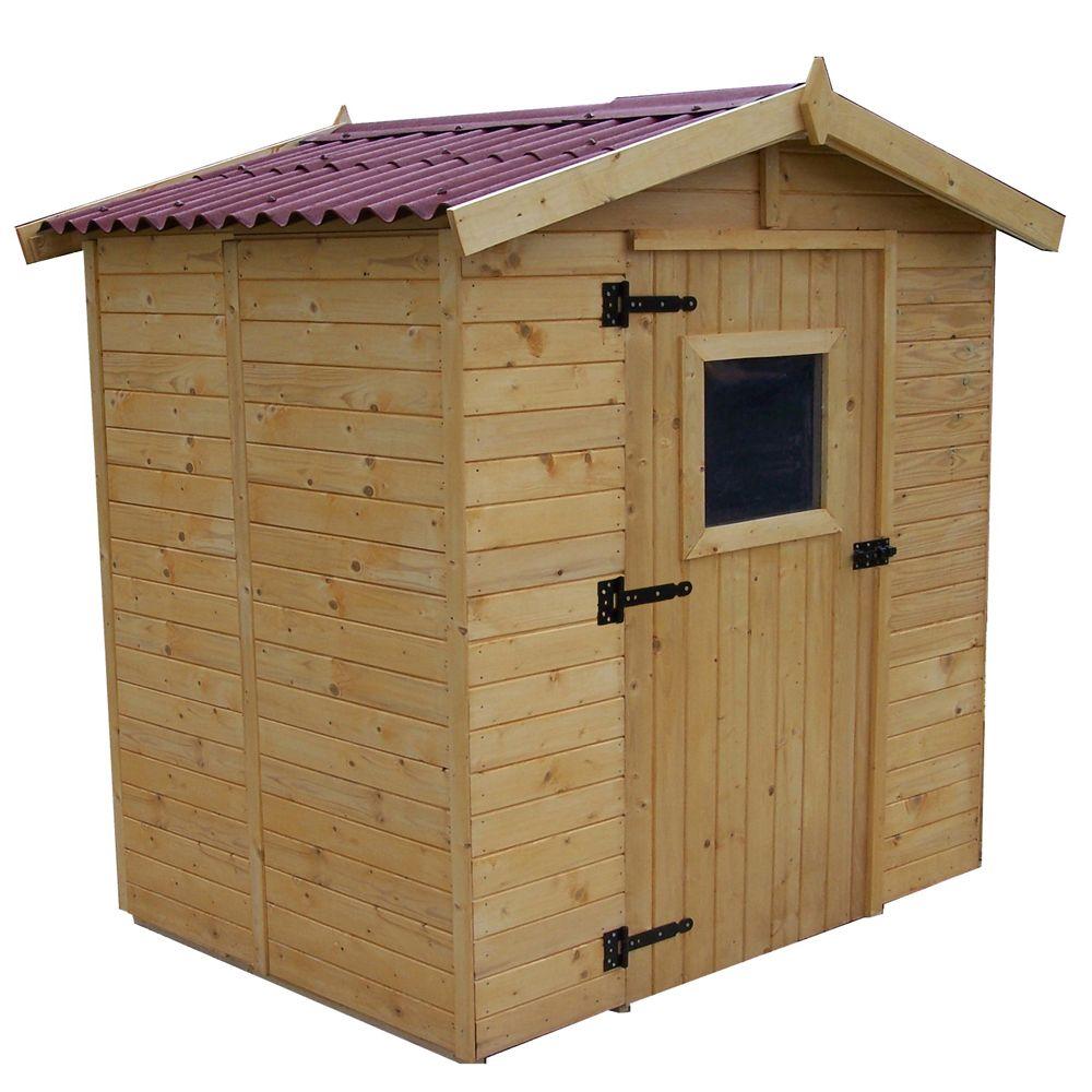 Petit abri de jardin bois 3 55 m ep 16 mm habrita for Petit abri bois